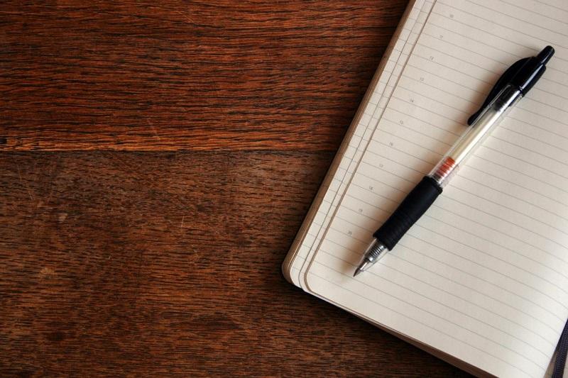 Фотографиями, картинка с листом бумаги и ручкой